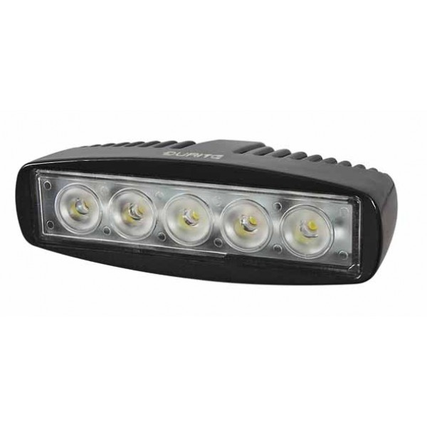 5 x 3W LED Work Lamp with 350mm Flying Lead - Black, 12/24V Ip67