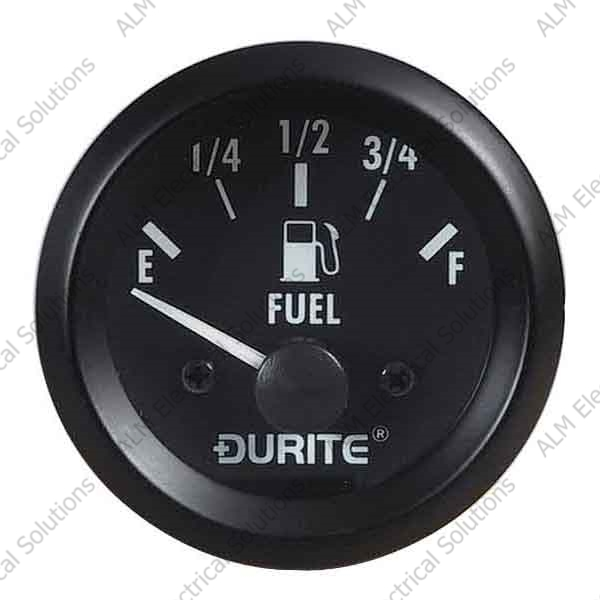 12V Fuel Gauge, 90° Sweep Dial With Sender