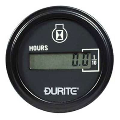 Durite 10-36V DC Digital Engine Hour Counter
