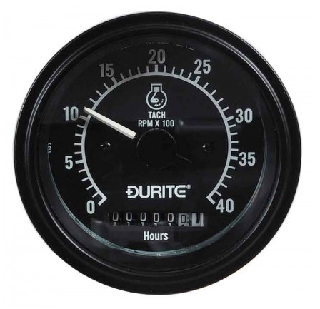 Durite 12/24V 86MM Tachometer, 270° Dial with Hour Meter