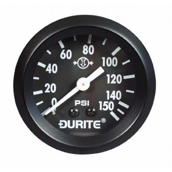 "Durite Air Pressure Gauge, 270° Sweep Dial with 1/8"" NPTF"