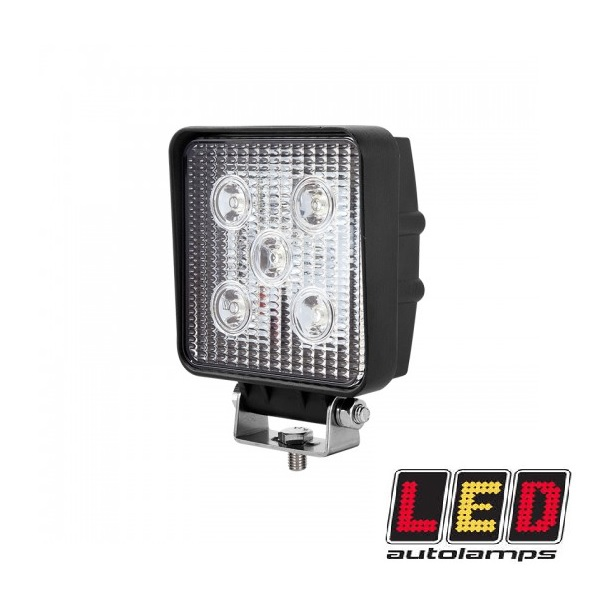 15w Square LED Work Lamp With Bracket