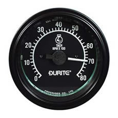Durite 12/24V 86MM Tachometer, 270° Dial 0 to 8000RPM