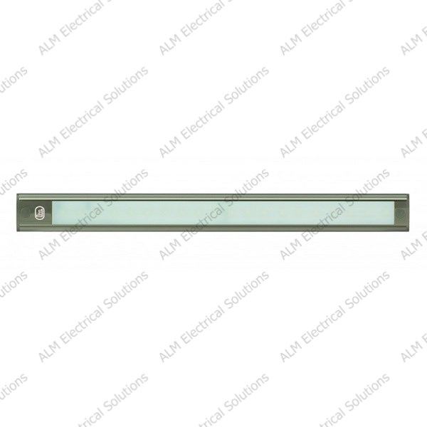 12V - 410Mm Interior Strip Lamp W/ Touch Switch - Grey Aluminium