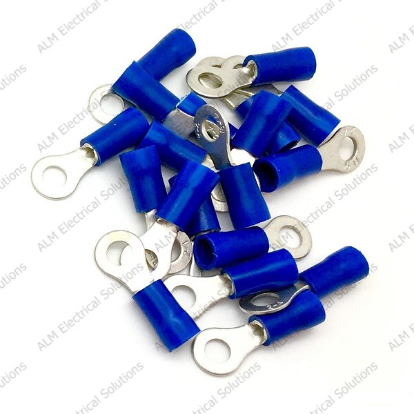 Pre Insulated Ring Terminals - 3.2mm - Blue