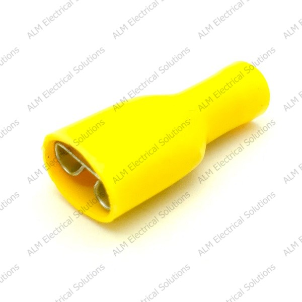 Yellow Pre Insulated 6.3mm Female Spade