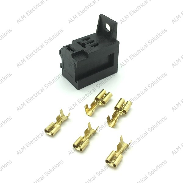 Micro Relay Base Holder and Mounting Bracket - With Terminals