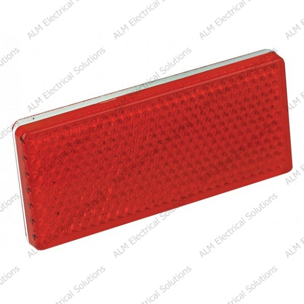 Red Rectangular Reflector - Twin Pack