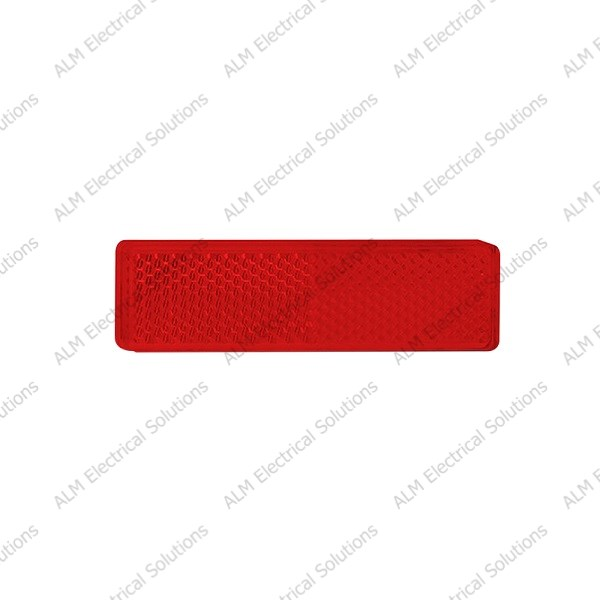 Slim Red Rectangular Reflector - Twin Pack