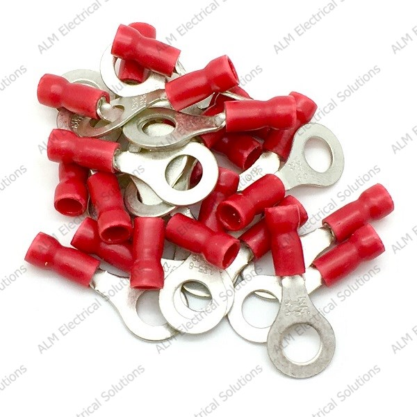 Pre Insulated Ring Terminals - 3.2mm - Red