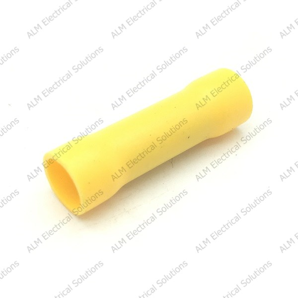 Yellow Pre Insulated Butt Connector Suitable For 1.5-2.5mm Cable
