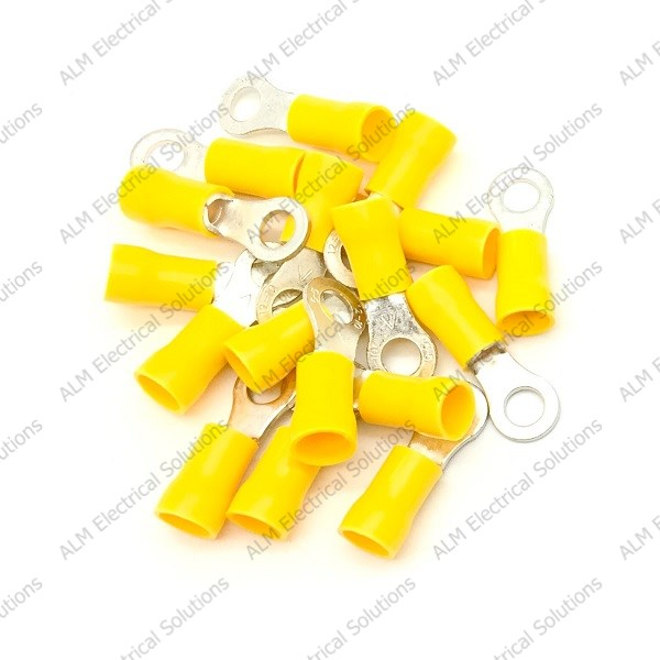 Pre Insulated Ring Terminals - 4.3mm - Yellow
