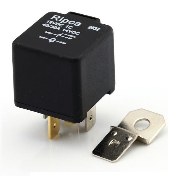 12v 5 Pin 30/40A Change Over Relay With Bracket