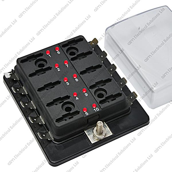 fhled 10 10 way blade fuse box bus bar led failure warning 10 fhled 10 10 way blade fuse box bus bar led failure warning