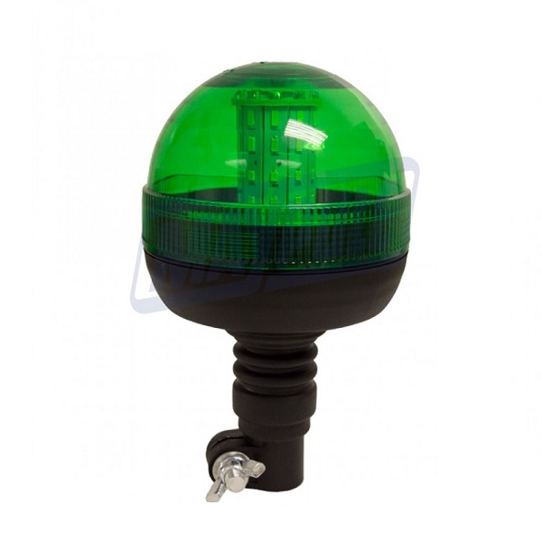 Green LED Warning Beacon - Flexible Din Mounting