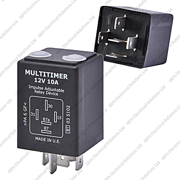 T40205 - 12V 10A Adjustable Delay On/Off Timer Relay