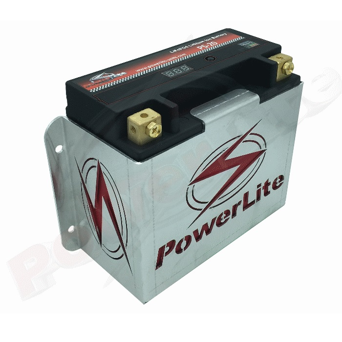 Powerlite Li-Ion 630CCA Race Battery & Mounting Bracket