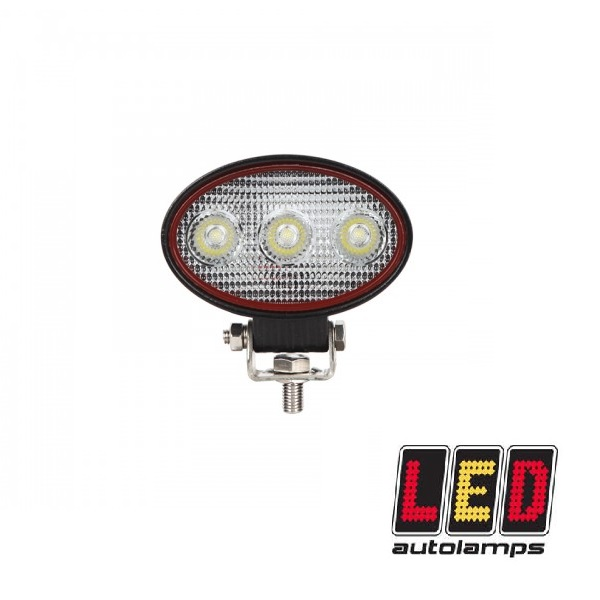 9W Compact Oval Flood Lamp - Red Line Range
