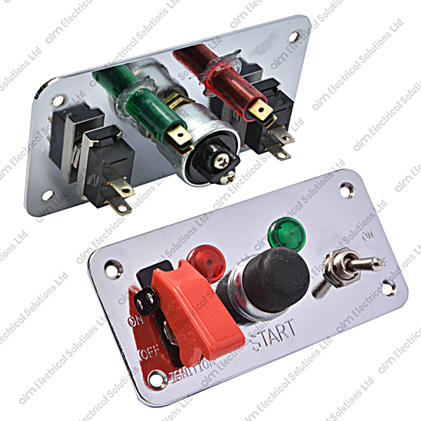 SW601 - Motorsport Style Switch Panel - Dual Switches