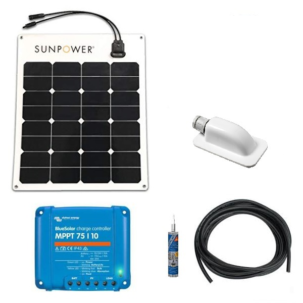 Flexible Sunpower Solar Panel Kit With Victron MPPT Controller