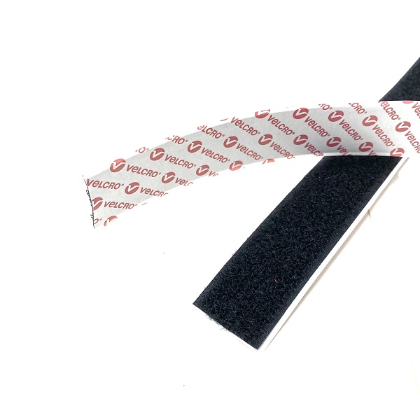 Velcro Self Adhesive Hook & Loop Tape Black