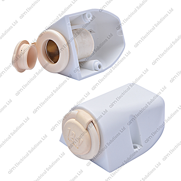 AS1213W - Surface Mount Accessory Socket 16A White