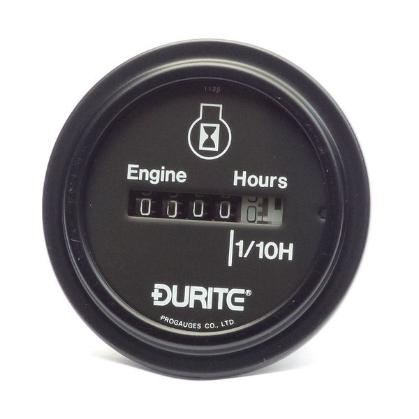 Durite 10-80V DC Circular Engine Hour Counter